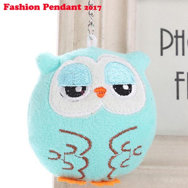 Cartoon Cute Owl Plush Pendant Toy Child Mini Animal stuffed Soft Toys Hanging Accessories for girl 14cm 2019 hot selling