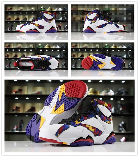 High Quality J7 Nothing But Net Classic Men Basketball Shoes New 7s Jumpman White University Red Bright Concord Designer Sports Sneaker