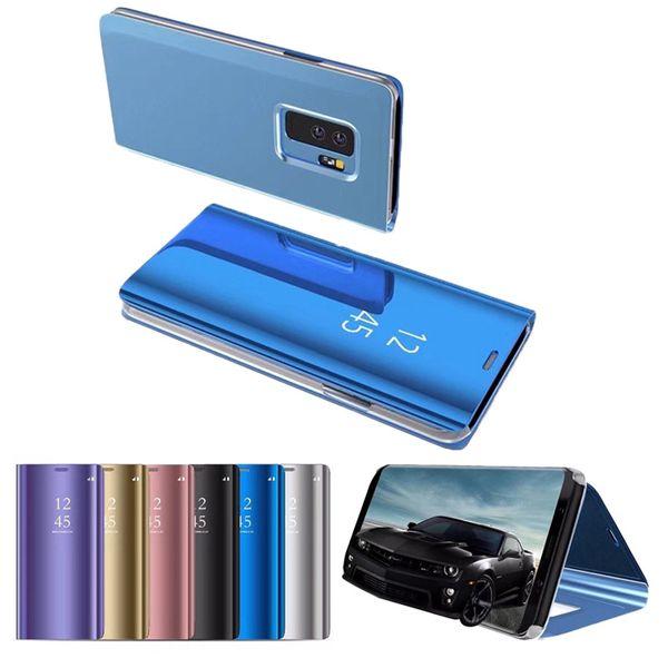 Custodia protettiva in pelle di lusso per Samsung Galaxy S7Edge S9 S8 S10 Plus Custodia antiurto per A7 2018 Custodia per telefono Smart View