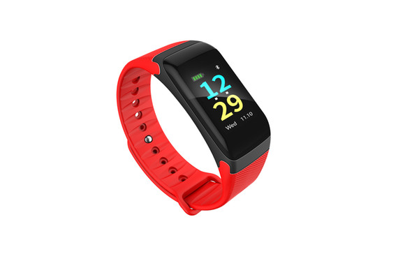 F601 Plus Color Lcd Screen Smartband Heart Rate Monitor Blood Pressure Measure Bracelet Waterproof Sports Bluetooth Wristband for Smartphon