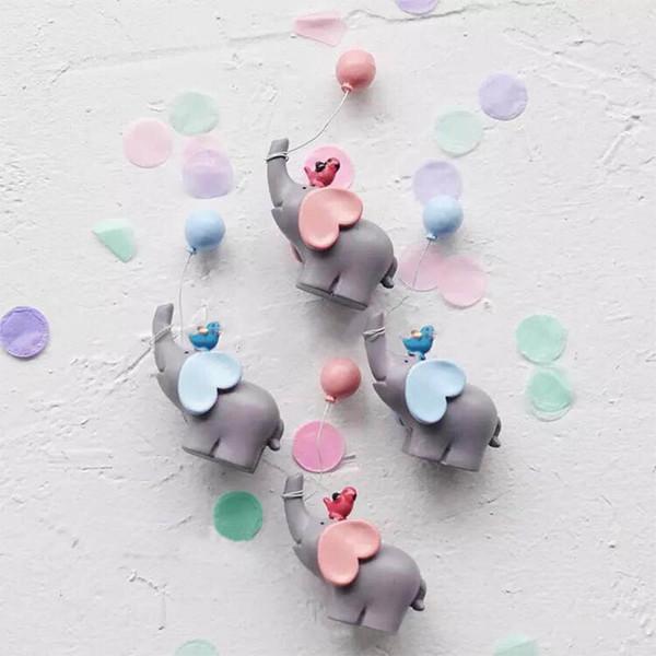 1 Stücke Dessert Tischdekor Baby Shower Zubehör Cupcake Topper Geburtstagsfeier Dekoration Niedlichen Elefanten Form Ornament Geschenk