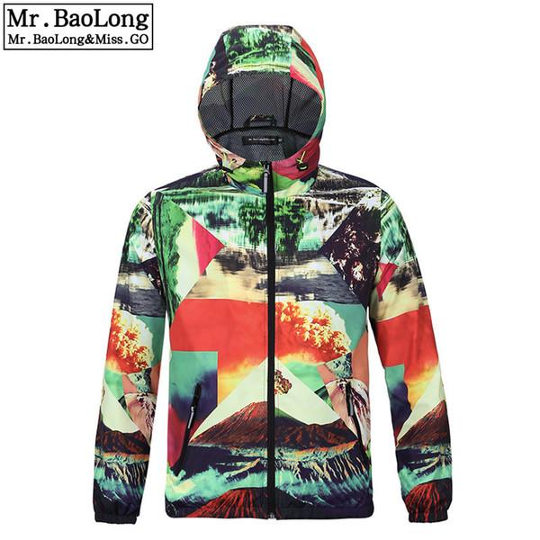 2019 Autumn women/men's outwear waterproof jacket men coat camouflage zipper colorful Trench coat punk thin Hooded top plus