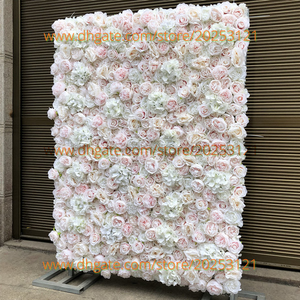 12pcs / lot 3D Antecedentes de la boda de la flor artificial pared de DIY Nuevo Pilar hortensias Bicuculina Peony del césped falso Plate Road Flower ventaja local