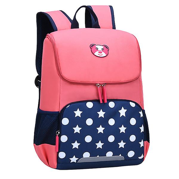 Kinder kindergarten schultaschen rucksäcke rosa mädchen mode große kapazität wasserdicht und lastreduzierend cartoon kinder rucksack # 4gh