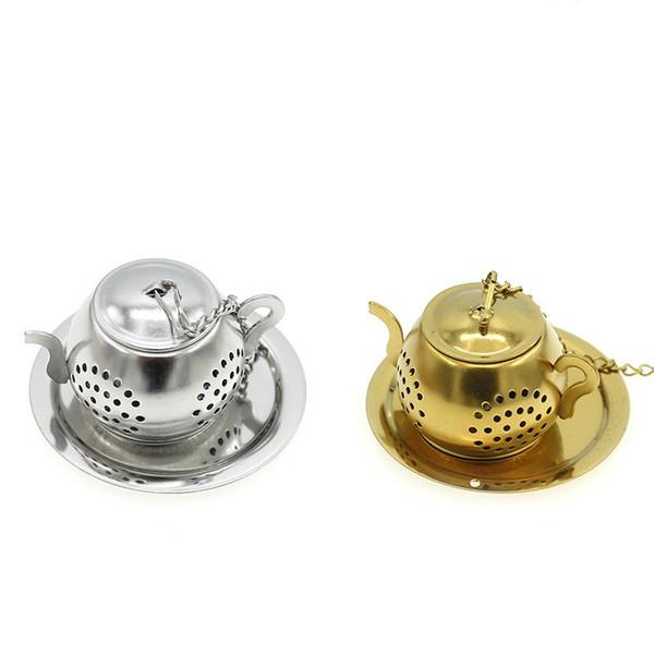 Sfera in acciaio inossidabile Infusore da tè Filtro a rete Filtro Filtro sciolto Filtro a foglia di tè Filtro per spezie Accessori per la cucina di casa CT0186