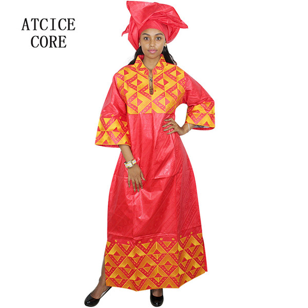 african dresses for woman bazin riche embroidery design long dress A159