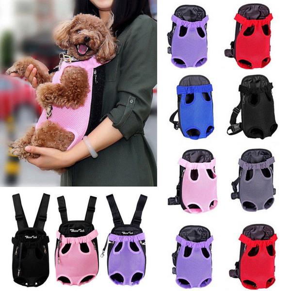 Новая мода дышащая сетка собаки Грудь 3size 6colors количество заготовленных в течение сезона консервов собак Pet Перевозчики рюкзаки Cat Puppy Pet Front плеча Sling сумка для переноски