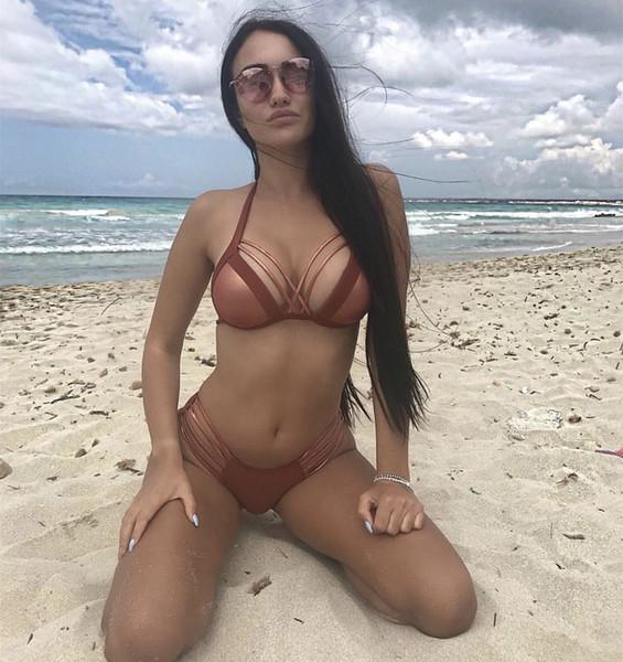 2019 hot stampaggio bikini Amazon AliExpress modelli esplosione signore sexy bikini diviso costume da bagno