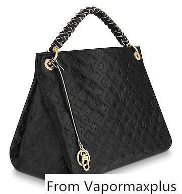 best selling M52731 Artsy Mm Black Real Caviar Lambskin Le Boy Chain Flap Bag Handbags Shoulder Messenger Bags Totes