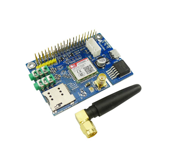Freeshipping SIM800C GSM GPRS Module Quad-band Development Board for Raspberry Pi