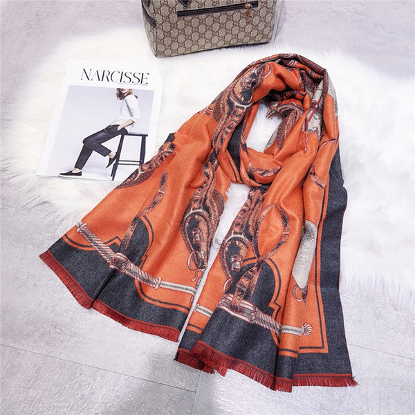 Luxury'nin eşarp tasarım, moda erkek ve kadın sonbahar kaşmir atkı, Avrupa ve Amerikan markaları satmak, boyut 180 * 70cm.15 markalar