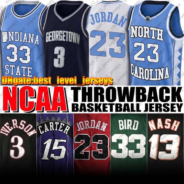 best selling NCAA North Carolina Tar Heels Michael Jersey Allen Vince Iverson Carter Jerseys Larry Steve Bird Nash Jersey College Basketball Jerseys