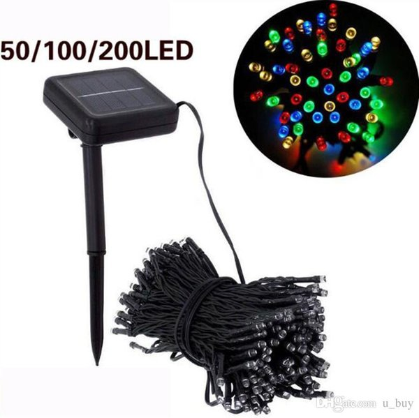 Solar Lamps LED String Lights 7m 12m 22m Fairy Holiday Christmas Party Garlands Solar Garden Lawn Outdoor Lights Waterproof
