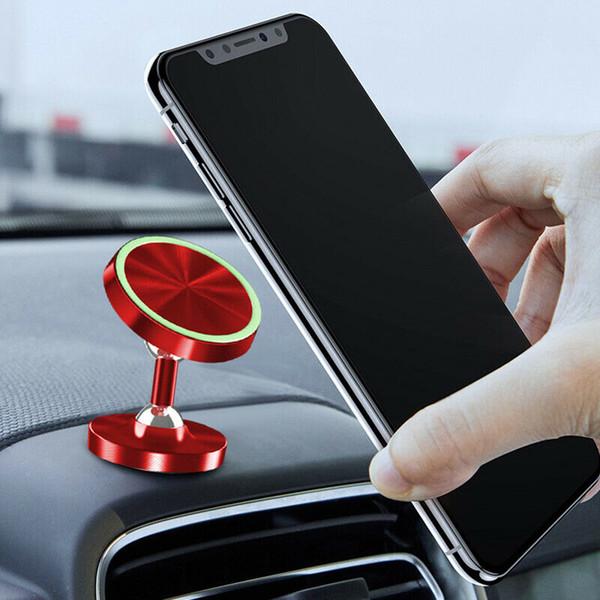 Drop Ship 1 Stücke Universal Magnetische Autotelefonhalterung Luminous 360 Rotation Auto Armaturenbrett Pnone Ständer Halter V-Best