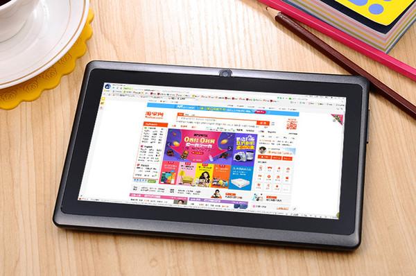 "10X Allwinner A33 Quad Core Q88 Q8 Tablet PC Dual Camera 7"" 7Inch capacitive screen Android 4.4 512MB 8GB Wifi Google play store flash C-7PB"