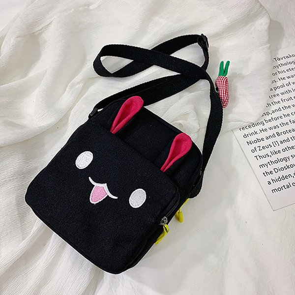 Fashion Women Canvas Shoulder Bags Nice New Pop Women Fashion Canvas Rabbit Ear Radish Purse Shoulder Tote Handbag Casual Bag