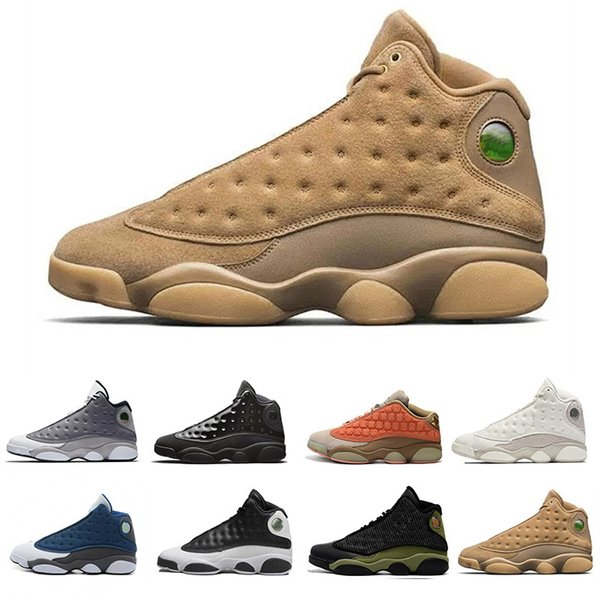 2019 13 13s Wheat Mens Basketball Shoes Bred Black Cat He Got Game Chris Paul Away XIII Athletics Sports Designer Sneakers Size 40-47