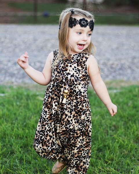 Newborn Babys Girls Boys Clothes Summer Sleeveless Leopard Vest Cute Romper Jumpsuit Harem Pants Outfits Baby Girl Clothes