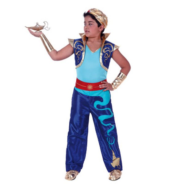 Child Performance Stage Costume Magic Lamp Prince Masquerade Party Arab King Costume Halloween Cosplay Parent-Child Service Cosplay Set