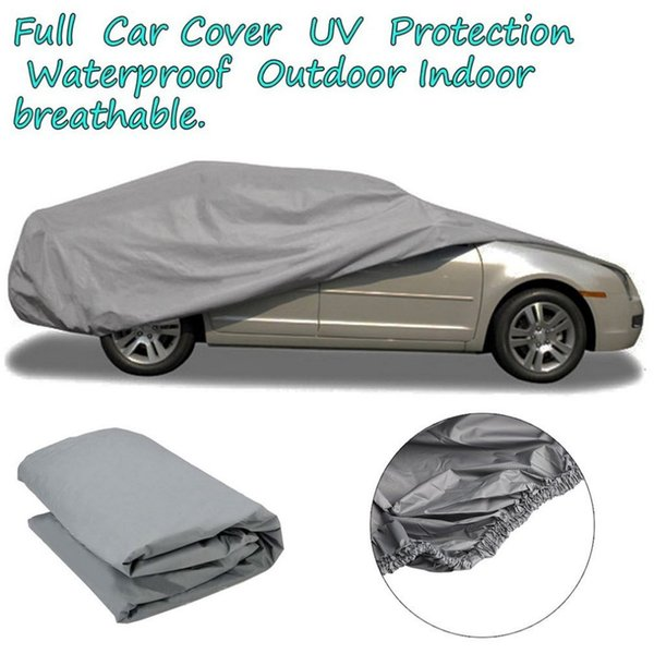 top popular Hot Sell Waterproof Dustproof Outer Membrane Full Car Cover UV Resistant Fabric Breathable Outdoor Rain Snow Ice Resistant S M L 2020