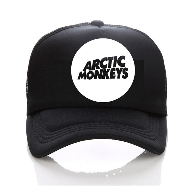 Arctic Monkeys band pattern printing net cap baseball cap Men and women Summer Trend Cap New Youth Joker sun hat Beach Visor