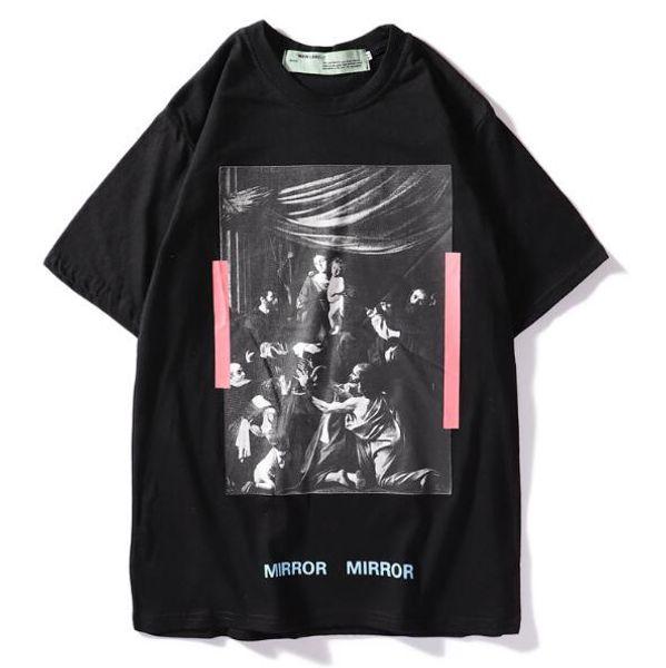 Men Women Tees OFF T shirt Casual short sleeve men's T-shirts print camisetas hombre tops White T-Shirts Hip Hop Sport Cotton Tees