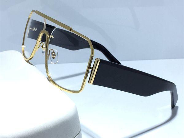 Altın Çerçeve Şeffaf / Şeffaf Lens