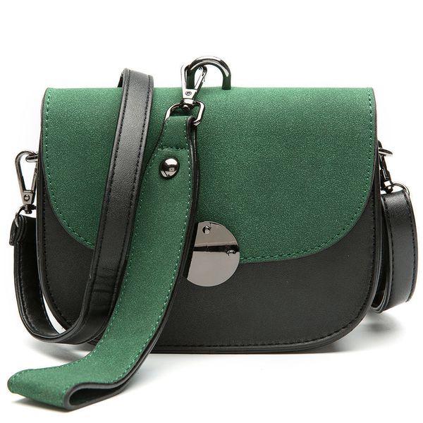 good quality Scrub Women Handbag Panelled Shoulder Bag Vintage Saddle Pu Leather Messenger Bag Female Crossbody Bags