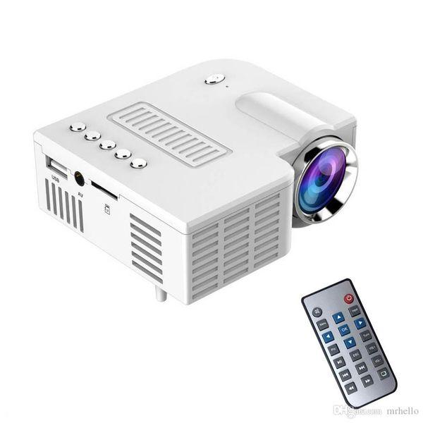 UC28 + Mini Taşınabilir 1080 P HD Projektör Ev Sineması Yükseltilmiş HDMI Arayüzü Ev Eğlence Cihazı Multimedya Oynatıcı