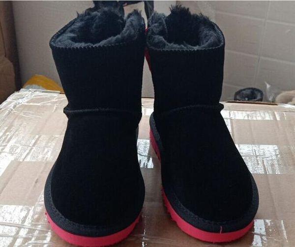 CLASSIC designer SHORT BABY BOY GIRL WOMEN KIDS BOW-TIE SNOW BOOTS FUR INTEGRATED KEEP WARM BOOTS SZIE 25-35