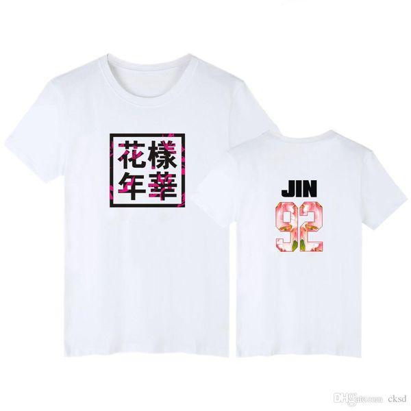 BTS Rapmaster Mujer Estilo de Corea del Verano Camiseta Moda Sólido de manga corta Top Tees O Cuello Camisetas Casual Camisetas Mujer NVTX78