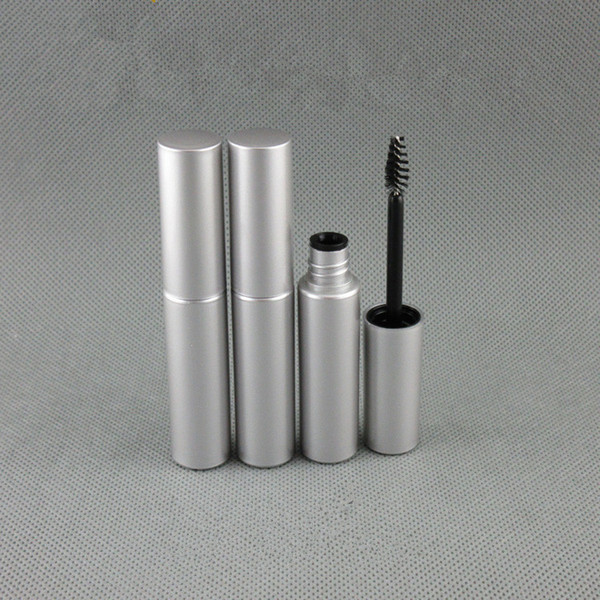 8ML UV Matte argento Mascara Liquid Eyeliner Tubi trucco bottiglia di plastica imballaggi vuoti mascara sopracciglia crema Tubi 20pcs / lot