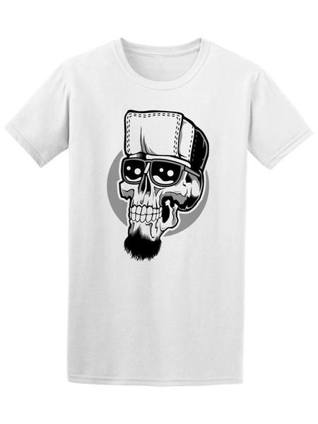 T-shirt pour hommes avec affiche Skull Hipster - Image de Fashion
