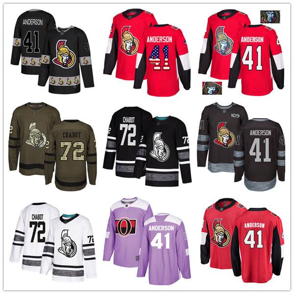 best selling Custom Ottawa Senators 41 Craig Andersen 44 Jean-Gabriel Pageau 9 Bobby Ryan 72 Thomas Chabot USA Flag hockey jerseys