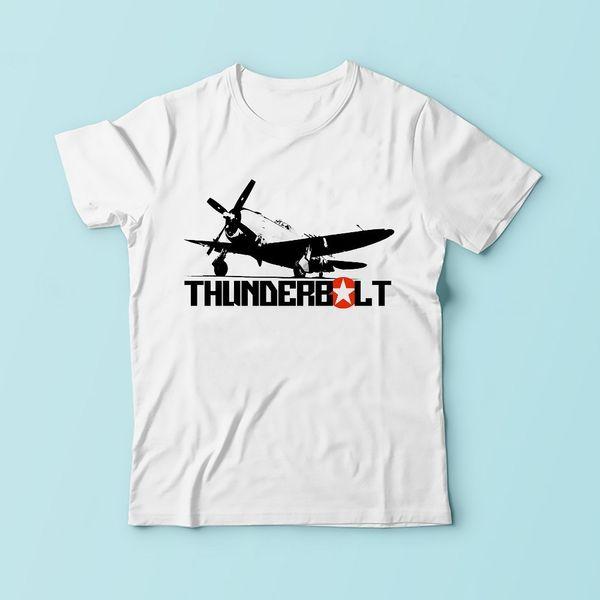 Ww2 P - 47 Thunderbolt Jug Battleplan T Shirt Men 2019 New White Casual Tshirt Homme Sublimation Print Tee Shirt