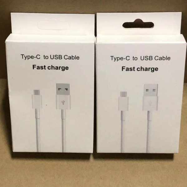 С розничной упаковке Коробка USB-кабель 1M 3FT Белый круглый шнур для зарядки данных для телефона Samsung S8 Note 7 S7 S6 край S4 Huawei P9 7 6 5