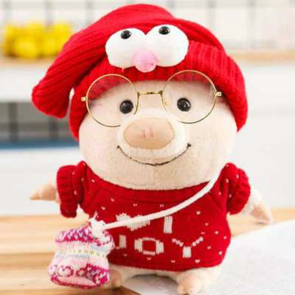 20170609 Small Pig Butt Trousers Cute Auspicious Dress Doll Stuffed Animals And Plush Toys For Chirdren Free Shipping