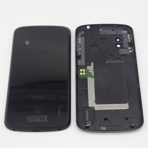 Battery Cover For LG Google Nexus 4 E960 Battery Door Back Glass Housing Cover + NFC Repair Parts Black White