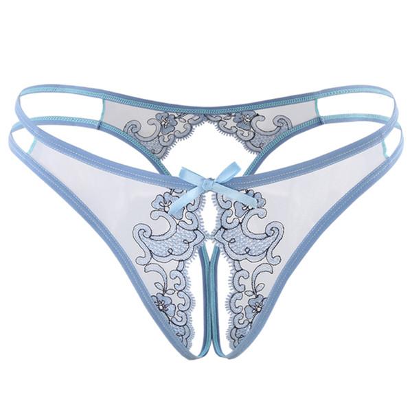 2019 Hot Sexy Ouvert Entrejambe Culotte Ultra-mince Dentelle Thong Et Le Sexe Doux Transparent Skimpily Temptation Femmes Sous-Vêtements Intimates T190712