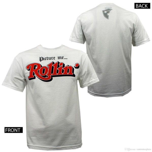 Famous Stars & Straps Picture Me Rollin' White T-Shirt S-Xxxl New Tees Shirt For Men High Quality Short Sleeve Crewneck Cotton XXXL