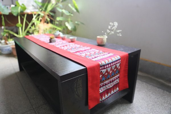 Chinese Classical style Cloth Art Cotton and Hemp Table runner Ethnic style Inn Bed Towel table Tea Towel