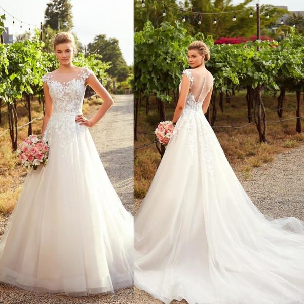 Abiti Da Sposa A Line.Discount 2020 Abiti Da Sposa Wedding Dresses A Line Illusion