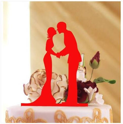 Sales!!! Free shipping Wholesales Wedding Cake Topper Decoration Acrylic Silver Glitter Gold Bride Groom