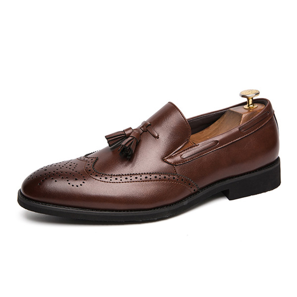 Mens Classic Vintage Dress Shoes Genuine Cow Leather Shoe for Casual Wedding Wearing Stylish Business Large Size Shoe SH3114865
