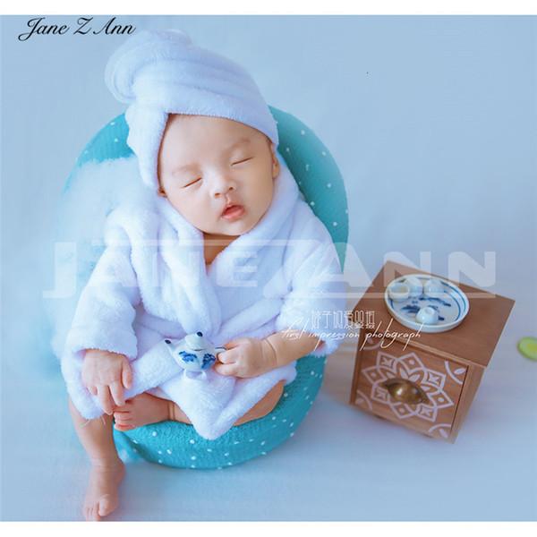 Jane Z Ann Foto bebe Newborn puntelli fotografia abbigliamento divano accappatoio 2018 nuove riprese in studio accessori funny baby costumeMX190917