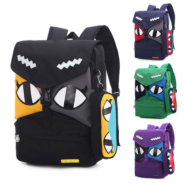 2Pcs/set 2019 Top quality students high quality Cartoon Luxury backpacks girl boy laptop Famous primary school fashion books bag Bags 6011
