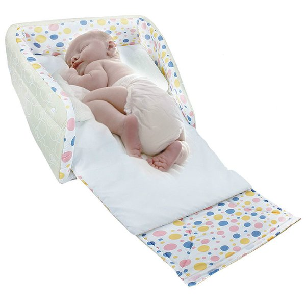 Cotton Portable Baby Co Sleeper Bed Travel Carry Folding Cot Moses Basket Travelling Grib Nest 41 39 16cm White Baby Crib Baby Cribs For Cheap From