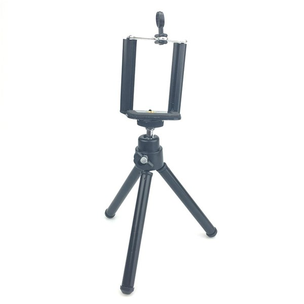 Universal Mini Live Tripods Lightweight Aluminum Metal Tripods Stand Mount with Phone Clipfor Camera Mobile Phone iPhone 6s 7