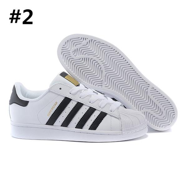 2018 Originales Superstar Holograma blanco Iridiscentes Superestrellas menores Zapatillas de deporte Super Star Mujeres Hombres Deporte Zapatillas 36-45 A034