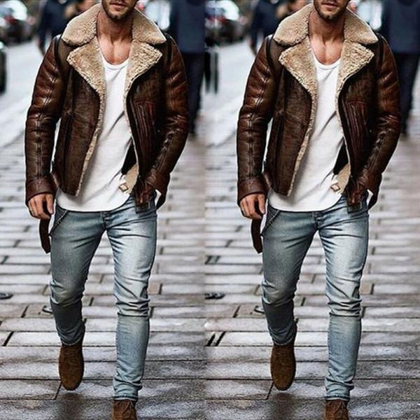 2019 зима новый Мужские пальто шерстяное пальто зимы Trench кожаное пальто и пиджаки Шинель куртки